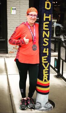Feeling great after the Muddy Mini quarter marathon in Toledo, Ohio.